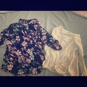 Two blouses, Ny and Co and Old Navy
